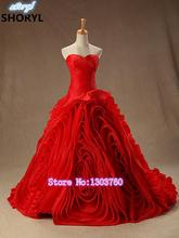 Wedding Dresses 2015 ivory nobility sexy red skirt layers of top design plus  Famous designer white Ivory church wedding dress