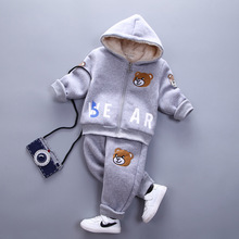 Baby Clothes Winter Models 2016 Boys Thicker Jacket Girl Teddy Bear Clothing Suit  Fashion Zipper Cotton Children Set YD037