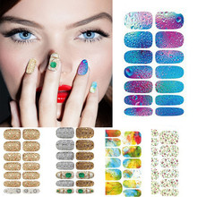 High Quality 5 Pcs Design Hot stamping 3D Nail Art Stickers Decals For Nail Tips Decorations(China)
