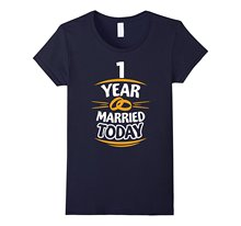 1st Anniversary Gift for Him First Year Wedding T-Shirt Cotton Casual Lady Women Tops Tees 2017 Hot New Summer Women T Shirt(China)