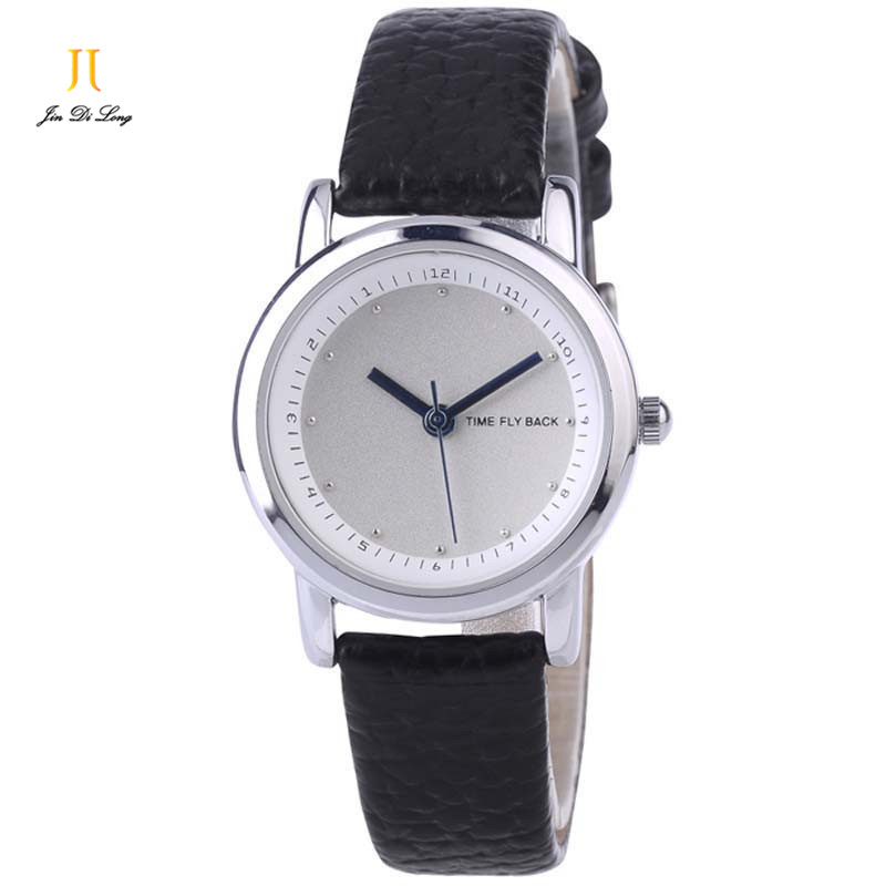 Brand Classic Fashion Casual Watch Quartz Watch with Black/White plate brown / black Leather Strap Creative Watch Women Watches<br>