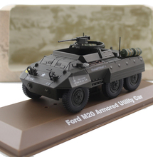 ATLAS 1/43 U.S.A M20 Armored car Utility armored vehicle Alloy model Collection model Holiday gift