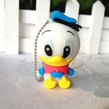 Best quality 100% Real capacity cartoon cute donald duck USB 2.0 usb flash drive memory stick pen drive 64GB-2GB best gift S243