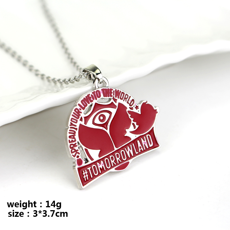 Hot Movie Jewelry Tomorrowland Necklaces & Pendants Spread Your Love To The World Peace Dove Tree Medallion Necklace Jewelry