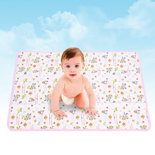 50*70CM Cotton Newborn Baby Changing Pad Urinal Pad For Infant Child Bed Waterproof Cloth diaper inserts Changing Mat For Crib(China)