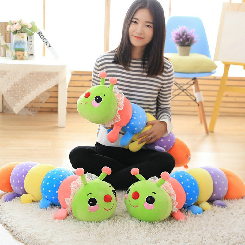 70cm Cute Super soft caterpillar Plush Toys Stuffed comfortable Plush Insect Cloth pillow Cushion doll kids toys baby gift<br><br>Aliexpress