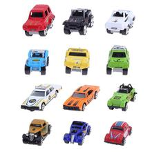 6pcs Mixed Pattern Mini Alloy Car Model Toys Diecast Metal Alloy Toys Birthday Christmas Gift For Kids Cars Toy(China)