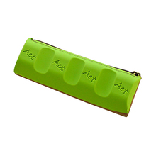 5PACKS Hot Chocolate Pencil Cases Silica gel Personality Kid School Case Pencil Case Stationery green(China)