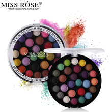 Miss Rose Makeup Brand 27 Full Color Eyeshadow Palette Matte Eye Shadow Cake Professional Make Up Kit(China)