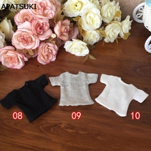 1pc 1/6 Doll's T-Shirt for Blythe Dolls Causal Clothes For Barbie Shirts For Momoko Azone Doll Clothes 1:6 Doll Accessories(China)