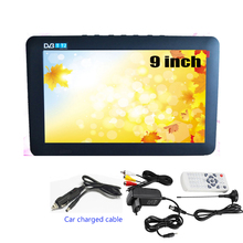 LEADSTAR DVB-T 9 Inches Car Portable TV 110-240V Digital Color TV Television Player TFT-LED Screen with EU US Adapter Optional