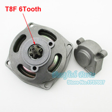 T8F 6T Clutch Drum Gear Box For 47cc 49cc Mini Pocket Bike ATV Quad Go Kart Cart Motorcycle Crass Parts