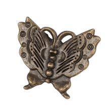 Bronze Tone Cupboard Door knobs Butterfly Shape Drawer Pull Handle  Retro Style closet pulls