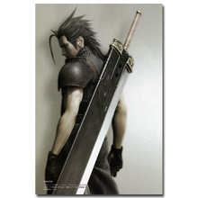 Zack Fair - Final Fantasy VII Art Silk Fabric Poster Print 13x20 24x36inch Hot Game Picture for Living Room Wall Decor 020