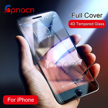 4D Full Cover Edge Tempered Glass For iPhone 8 7 Plus Screen Protector For iPhone 6 6s 7 Plus 2nd Gen 3D Protection Glass(China)