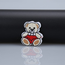 Teddy Bear mini iron on patches expression biker patch embroidered DIY Applique Badge sewing accessories sew on clothing