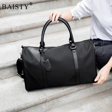 Buy Men Travel bags Fashion Nylon Big Travel Handbag Folding Trip Bag Large Capacity Luggage Travel Duffle Bags Men Business Handbag for $19.90 in AliExpress store