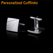 Personalized Cufflinks Custom Name Cuff Links for Mens Gifts Dad Customized Cuff Buttons Wedding Favors For Fathers Day CL-013(China)