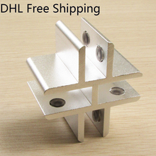 DHL Free 20Pcs/lot Shipping Clamp Hold 8 to 12mm Aluminium Material Glass Fitting Heavy Duty Hose Clamps Shelf Bracket Holder(China)