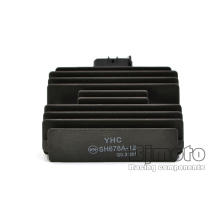 YHC SH678A-12 Motorcycle Metal Voltage Regulator Rectifier For Kawasaki ER6N Ninja 650R Z750S Versys Z1000 ZX1000 Ninja(China)