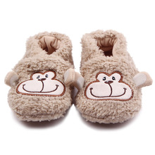 New Arrival Fashional Plush Soft Sole Elephant Monkey Rabbit Sheep Cotton Newborn Baby Shoes 0-15 Months