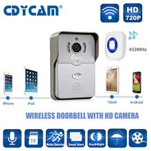 CDYCAM 720P HD Video Doorbell Wireless IP WiFi Doorbell Night Version IR Motion Detection Alarm for IOS Android support SD Card