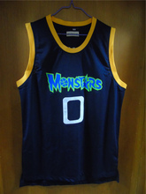 Aembotionen Space Jam Monstars Tune Squad Alien #0 Blue Retro Throwback Stitched Basketball Jersey Sewn Camisa Embroidery Logos