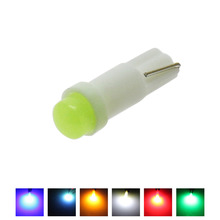 20PCS/LOT W1.2W Socket T5 LED 12V Car Auto Side Wedge Gauge Dashboard Gauge Instrument Light Lamp Bulb Ice Blue Red Green Yellow(China)
