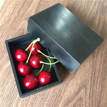 Vintage Black Painted Especially Wooden Box For Top Desk Decoration Article Wedding Gift Packing Box 11*7.5*3cm 2PCS/LOT