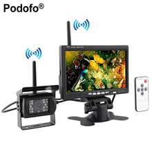 "Podofo Built-in Wireless Ir Night Vision Rear View Back up Camera System + 7"" HD Monitor for RV Truck Trailer Bus(Hong Kong)"