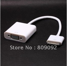 High Quality Dock Connector for Apple New iPad 3rd to VGA Adapter Cable HDTV LCD
