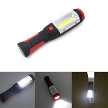 2 Modes Red Portable Lantern Emergency COB LED Camping Lantern Waterproof Hand Flash Light Mini Torch Hanging Lamp With Magnets(China)