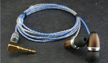diy earphone wooden shell Silver-plated Furukawa Teflon wire ie8 driver