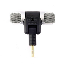 Portable Mini Mic Stereo Digital Microphone 3.5mm Wireless Outdoor Microphone for Recorder PC Anchor Laptop