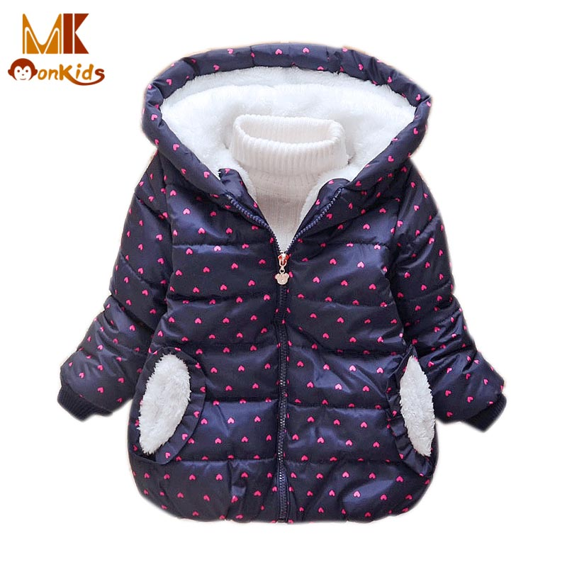 Monkids Outerwear Coats Dot Winter Jacket for Girls Winter Coat Childrens Clothing Down Parkas Kids Clothes Cute 2017 NewОдежда и ак�е��уары<br><br><br>Aliexpress