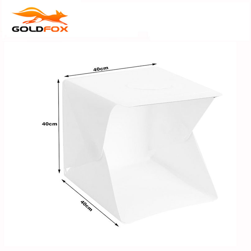 40 x 40 x 40cm Lightbox Mini softbox LED Photo Studio Folding Light box Room Photography Backdrop Light Box Softbox Tent Kit<br>