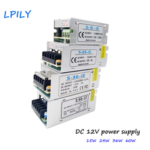 LPILY LED Driver Power supply 12V 15W-400W LED Power Supply AC 110V 220V to 12V Lighting Transformer Aluminum For LED Strip 2835