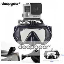 Deepgear Camera mount scuba diving mask Tempered glass profession snorkel mask Top underwater sport scuba gear and equipments(China)