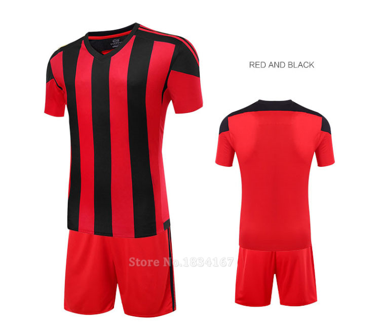 Men Customized Soccer Jerseys Adult DIY Sports Kits 17 Survetement Football Suits Training Jerseys College Soccer Uniform Sets 11