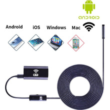 1m 8mm Wireless WIFI Endoscope Waterproof LED HD 1.0MP Camera For iPhone Android Tube Pipe Snake Video Camera Camcorder
