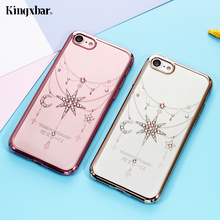 KINGXBAR for Case iPhone 7 Case Luxury for iPhone 7 Plus Case Coque Authorised Swarovski Elements Diamond Hard Phone Cover Bags