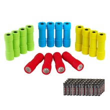 EVERBRITE Flashlight Torch Q5 LED Zoomable Mini Camping Hunting Flash Light 16PC/Lot(China)