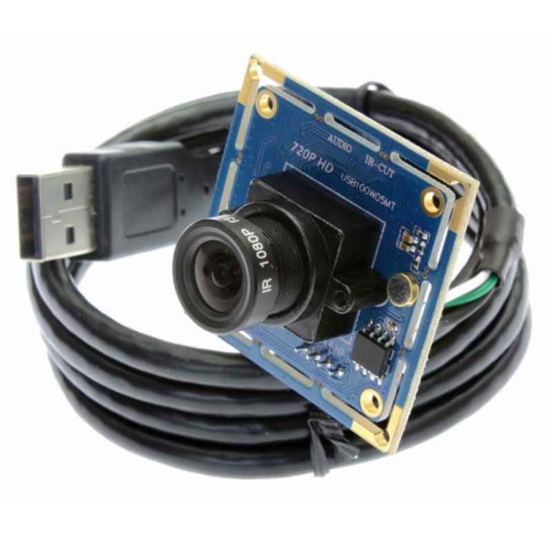 2.1mm lens 1280 x 720 MJPEG 30fps OEM micro mini usb 2.0 pc webcam camera module 720p<br>