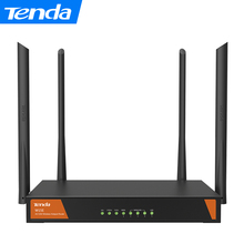 Tenda W15E Smart 1200Mbps Gigabit Wireless WiFi Router 11ac 2.4G/5GHz Wi-Fi Repeater for Office / Internet cafe / Large House(China)
