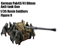Scale Models 1/35 WW2 German 88mm anti-tank soldiers 9 group (not including anti-tank guns) WWII Resin Model Free Shipping