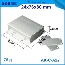 4 pcs/lot free shipping  Diy Aluminum industrial electrical box in silver color with  anodic oxidation and sandblasting 20x55 mm