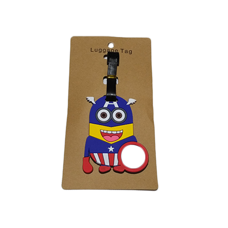 Travel Accessories Luggage Tag Suitcase Cartoon Style Cute Minions Silicone Tags Portable Travel Label Bag Tag Obag Accessories (25)
