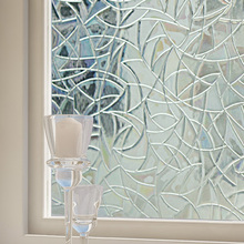 92CM*50CM Elegant Frosted Glass Window Sticker Film Floral Flower 3D Static Cover Adhesive Sliding Door Home BZP-001