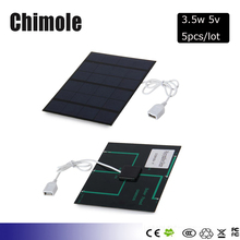 5pcs/lot 6V 0.6A 3.5W Mini Solar Panels Small Solar Power 3.6v Battery Charge Solar Led Light Solar Cell Drop DIY Kit