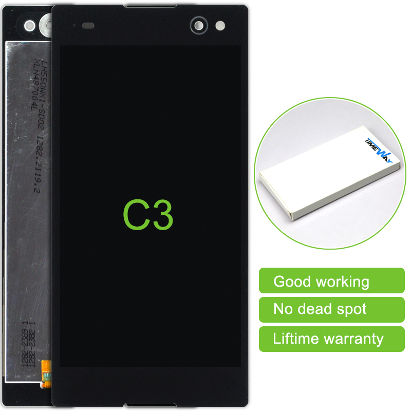 Time-limited 2 Pcs New Replacement Lcd Display Touch Screen Digitizer Assembly For Sony Xperia C3 Free Shipping<br><br>Aliexpress